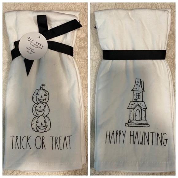Rae Dunn Halloween Kitchen Towel Set of Two